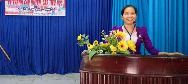 Phó Phòng Giáo dục&Đào tạo huyện Thủ Thừa, Trưởng Ban giám khảo, khai mạc Hội thi